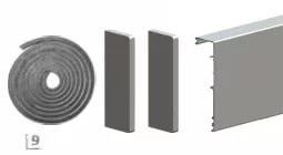 Aлюминевая маскировочная планка HERLUKES GLASS 2010мм, с заглушками, анод. серебро - фото 5089