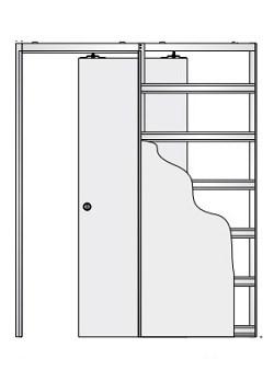 Дверной пенал Eclisse Unico Single - фото 7824