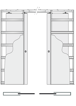 Дверной пенал Eclisse Unico Double - фото 7835