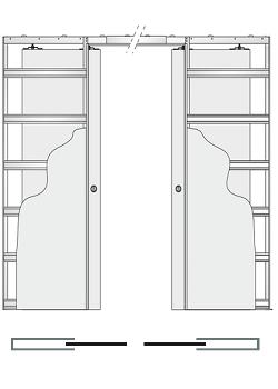 Дверной пенал Eclisse Unico Double
