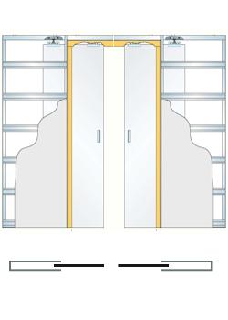 Дверной пенал Eclisse Unico Double Glass для стеклянных дверей